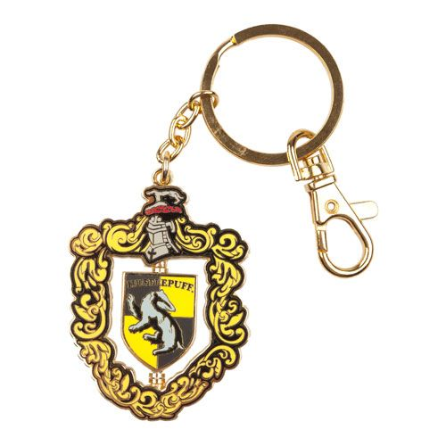 L_4HOUSES_Souvenirs_KeyChains_HarryPotter_Souvenirs_HufflepuffCrestSpinningKeychain_1230703.JPG
