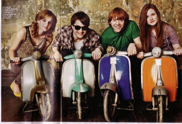 trio - composed by Emma Watson, Daniel Radcliffe and Rupert Grint - and,